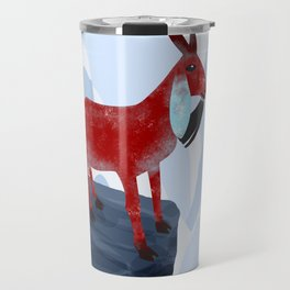 Mountain Goat Design Travel Mug