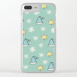 Christmas pattern Clear iPhone Case