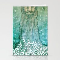 beard Stationery Cards featuring Beard by Lee Grace Illustration
