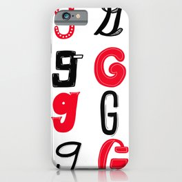 G's in red and black iPhone Case