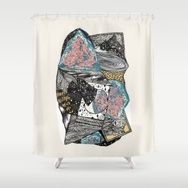 Cosmic geology Shower Curtain