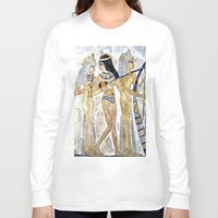 egyptian Long Sleeve T-shirts featuring Egyptian Musicians by Brian Raggatt