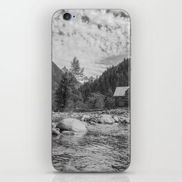 Cabin on the River iPhone Skin