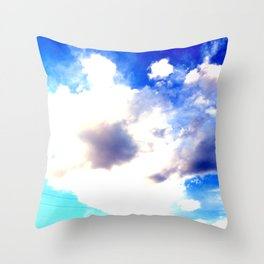 Blue Skies Will Never Fade Throw Pillow