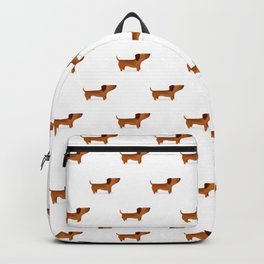 Watercolor Dachshund Weiner Dog Backpack