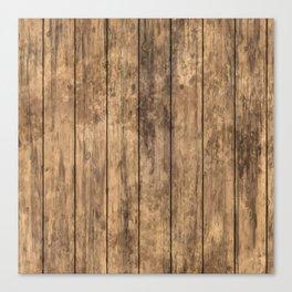 Grunge Wood Floor Pattern Canvas Print