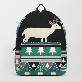 Christmas pattern with deer Backpack