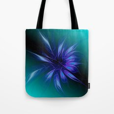 fractal elegance - blue and turquoise Tote Bag