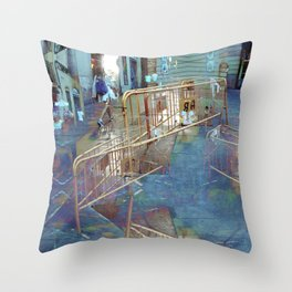 Summer space, smelting selves, simmer shimmers. 21 Throw Pillow