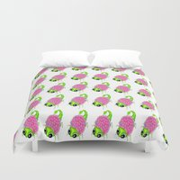 insect Duvet Covers featuring Flower Insect by KeijKidz