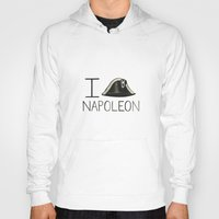 napoleon Hoodies featuring Napoleon by Normandie Illustration