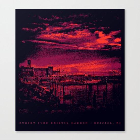 Sunset Over Bristol Harbor 3 Canvas Print