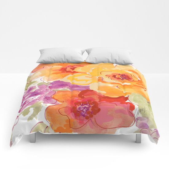 flower beach roses floral Comforters