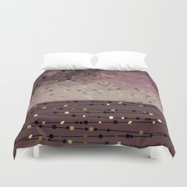 Pink brown combo pattern . Duvet Cover