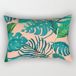 Summer Tropical Leaves Rectangular Pillow