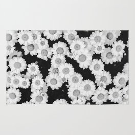 The Daisy Garden (Black and White) Rug