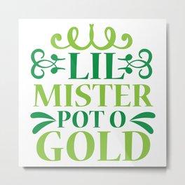 Lil Mister Pot O Gold Metal Print