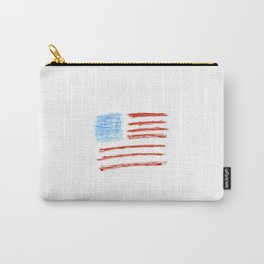 Flag of Usa 2 Chalk version- america,us,united states,american,spangled,star and strips Carry-All Pouch