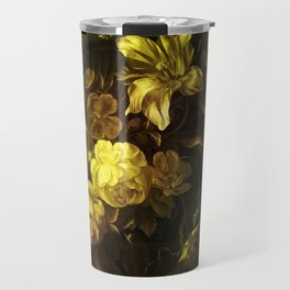 Flowers in a Vase - yellow Travel Mug