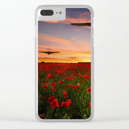 Poppy Vulcans Clear iPhone Case
