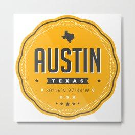 Austin Texas City Badge Metal Print