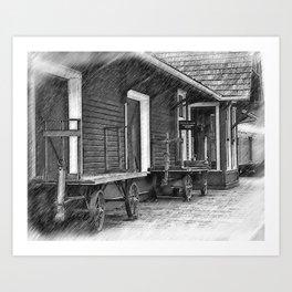 Train Station Platform Art Print