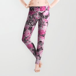 Floral pink vintage pattern Leggings