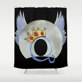 Queen Album Cover Concept Art A Day At the Races Shower Curtain