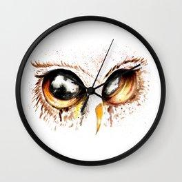 Bown owl eye Wall Clock