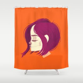 see through girl 1 Shower Curtain