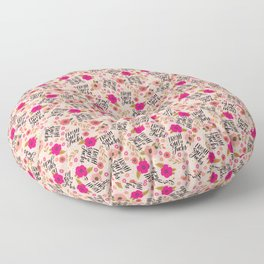 Pretty Sweary: Fresh out of Fucks- Pink Floor Pillow