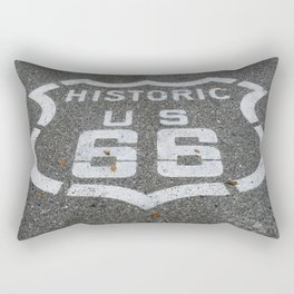 Route 66 sign on the road Rectangular Pillow