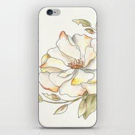 Shrub Rose (white) iPhone Skin