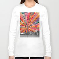 toronto Long Sleeve T-shirts featuring Blooming Toronto by Bianca Green
