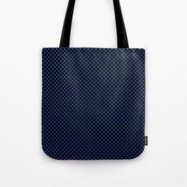 Black and Sapphire Polka Dots Tote Bag