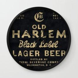 Old Harlem Lager Beer vintage advertisment poster Wall Clock