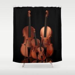 String Instruments Shower Curtain