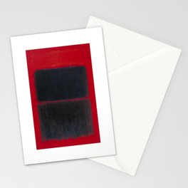 1957 Light Red Over Black by Mark Rothko Stationery Cards