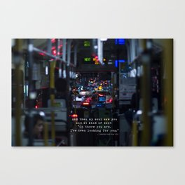 The Point Of Contact Canvas Print