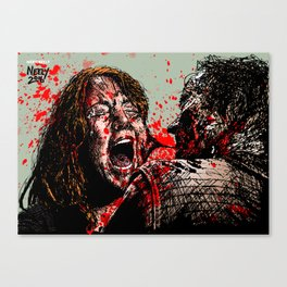 The Walking Dead: Savior Paula Gets it. Played by Alicia Witt. Canvas Print
