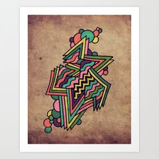 Neon Grit Art Print