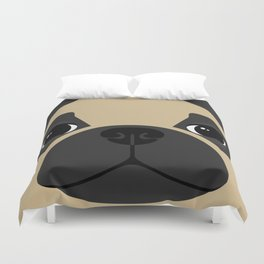 Pug Close Up Duvet Cover