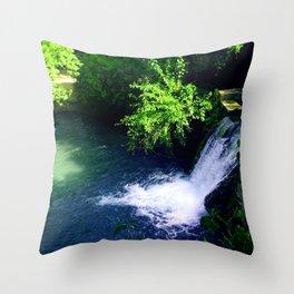 Center of Texas Waterfall Throw Pillow