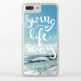 Swing Life Away - Ocean Clear iPhone Case