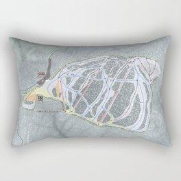 Mt Ashland Resort Trail Map Rectangular Pillow