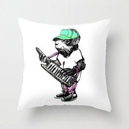 Hamster Superstar Throw Pillow