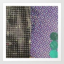 eyes (halftone) Art Print