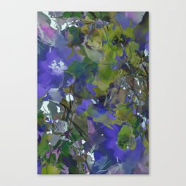 Violet Water Blossoms Canvas Print