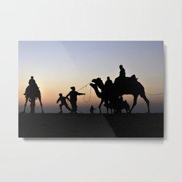 Thar desert, Jaisalmer, Rajsthan Metal Print