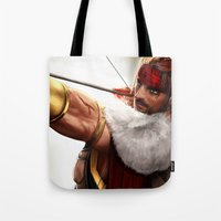 rogue Tote Bags featuring Rogue by KlsteeleArt